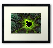 3D Thread Fractal Framed Print
