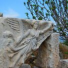 Angel Flies near the Temple of Domitian - Ephesus by Mary-Elizabeth Kadlub