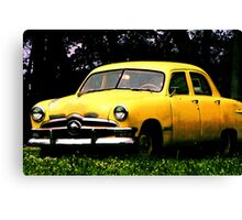 Taxi Cab Yellow Chevy Canvas Print