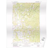 USGS Topo Map Washington State WA Foothills 241149 1973 24000 Poster