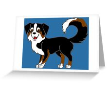Black Tricolor Australian Shepherd Greeting Card