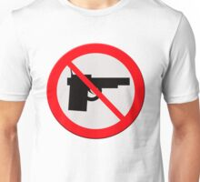 "Sign ""No guns"" Unisex T-Shirt"