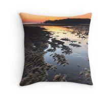South Shields Beach Throw Pillow