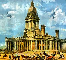Leeds Town Hall, Yorkshire, England 1858 by Dennis Melling