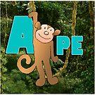 Alphabet ZOO - APE by Koekelijn