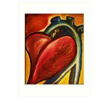 The heart of nursing Art Print