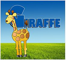 Alphabet ZOO - GIRAFFE Photographic Print