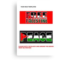 Palestine mug template Canvas Print