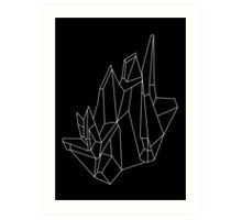 Crystal Black Art Print