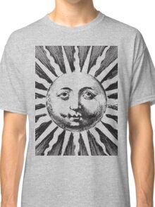 Vintage sun illustration Classic T-Shirt