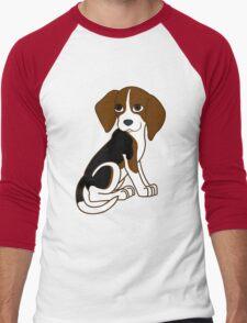 Cute Beagle Puppy Men's Baseball ¾ T-Shirt