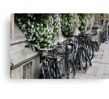 Oxford Bicycles. Canvas Print