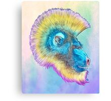 Mohawk Mandrill IN SPACE! Canvas Print