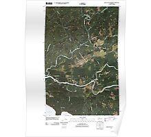 USGS Topo Map Washington State WA Quillayute Prairie 20110418 TM Poster