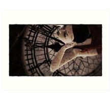 Death's Timepieces 11:58 Art Print