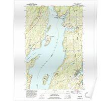 USGS Topo Map Washington State WA Vaughn 244472 1953 24000 Poster