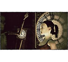 Death's Timepieces 12:00 Photographic Print