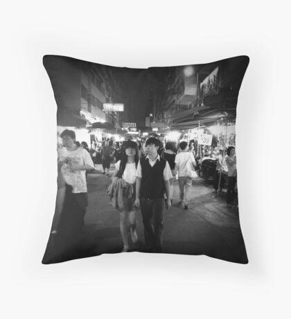 Mongkok, Hong Kong Throw Pillow