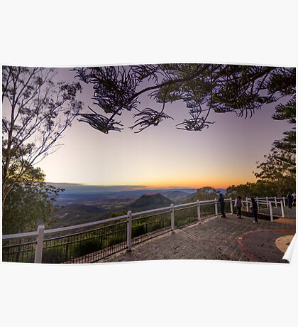 Picnic Point Lookout Toowoomba Sunrise Poster
