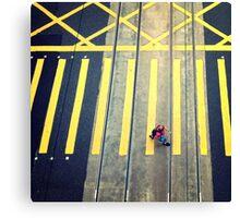 Pedestrian, Hong Kong Canvas Print