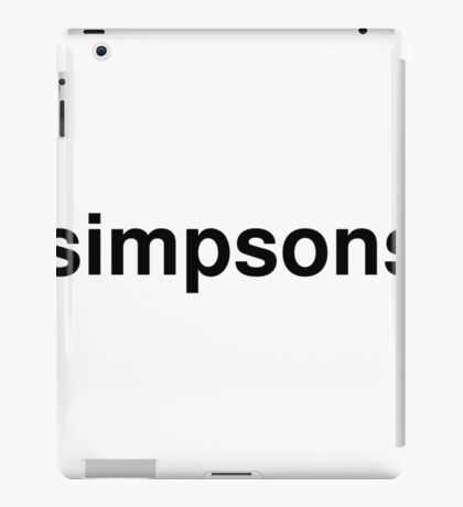 simpsons iPad Case/Skin