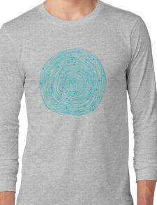 Turquoise spirals  Long Sleeve T-Shirt