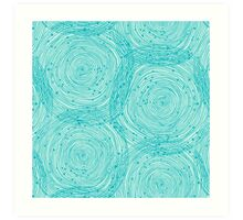 Turquoise spirals  Art Print