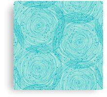 Turquoise spirals  Canvas Print