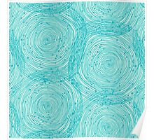 Turquoise spirals  Poster