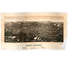 Panoramic Maps view of Butte Montana 1904 Poster