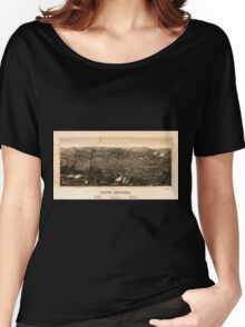 Panoramic Maps view of Butte Montana 1904 Women's Relaxed Fit T-Shirt