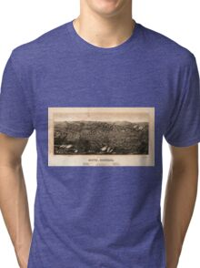 Panoramic Maps view of Butte Montana 1904 Tri-blend T-Shirt
