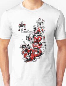 Red white & Black No.1 T-Shirt