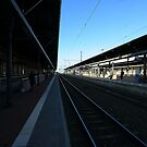 Waiting for the train by DHParsons