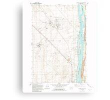 USGS Topo Map Washington State WA Wooden Island 244782 1992 24000 Metal Print