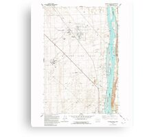 USGS Topo Map Washington State WA Wooden Island 244782 1992 24000 Canvas Print