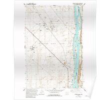 USGS Topo Map Washington State WA Wooden Island 244782 1992 24000 Poster
