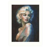 MM  WW blue Art Print