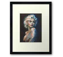 MM  WW blue Framed Print