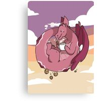Milk & Cookies Dragon Canvas Print
