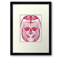 My scary face vectorized mirror effect blended vector art Framed Print