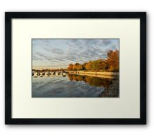 Autumn Splendor at the Marina Framed Print