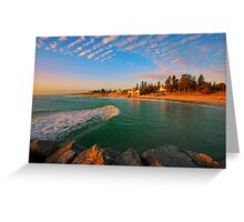 Sea Swell at Sunset Greeting Card