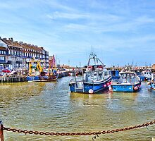 West Bay Harbour  , Bridport, Dorset..  Uk by lynn carter