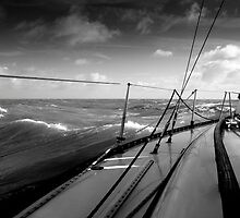 Sailing on the North Sea. by M. van Oostrum