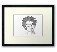 Richard Ayoade Sketch Framed Print
