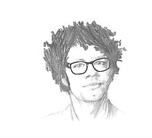 Richard Ayoade Sketch Photographic Print