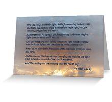 Genesis 1:14-19 Greeting Card