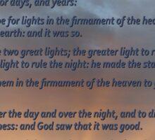 Genesis 1:14-19 Sticker