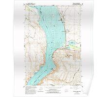 USGS Topo Map Washington State WA Wallula 244522 1992 24000 Poster